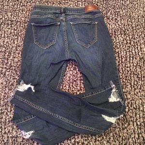 Ripped Low rise super skinny Hollister jeans